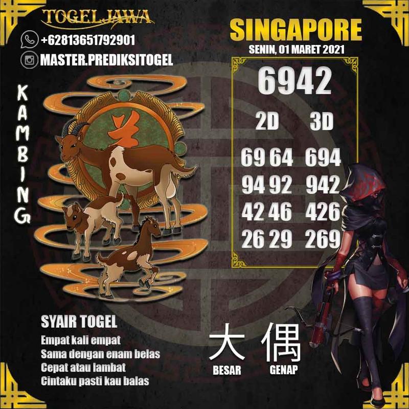 Prediksi Singapore Tanggal 2021-03-01