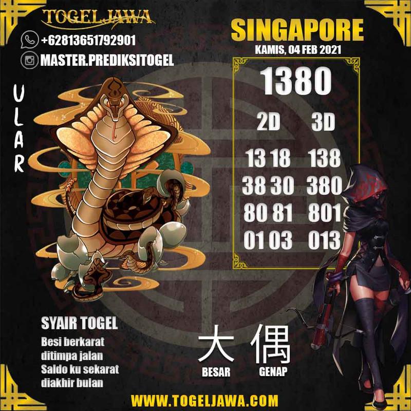 Prediksi Singapore Tanggal 2021-02-04