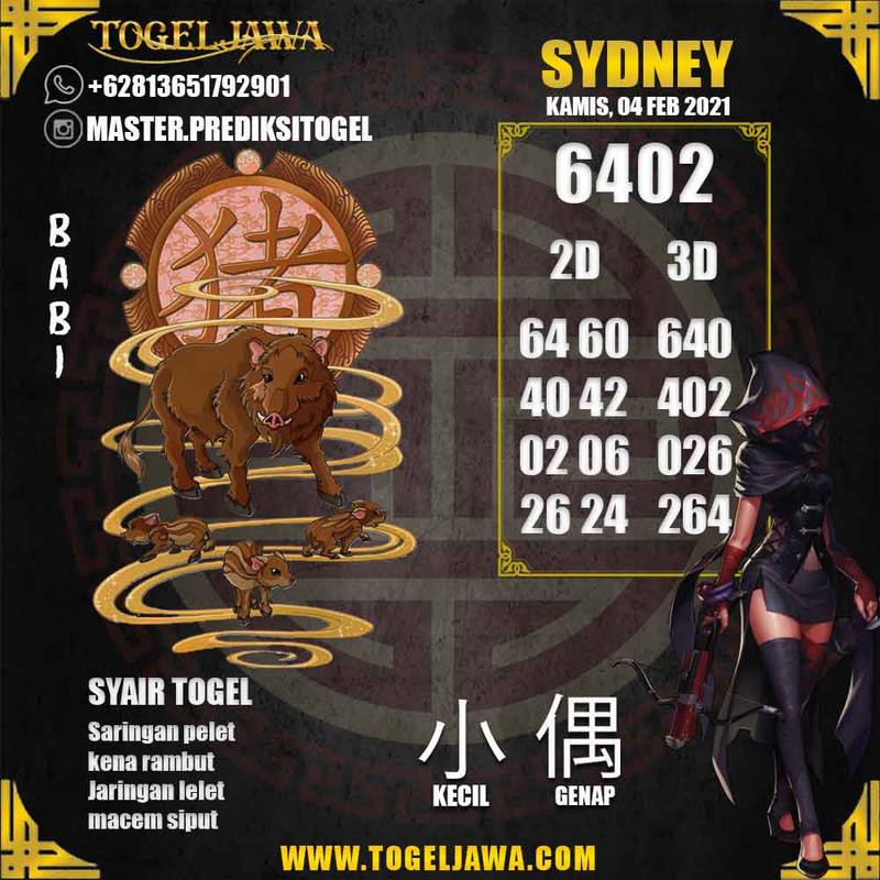 Prediksi Sydney Tanggal 2021-02-04