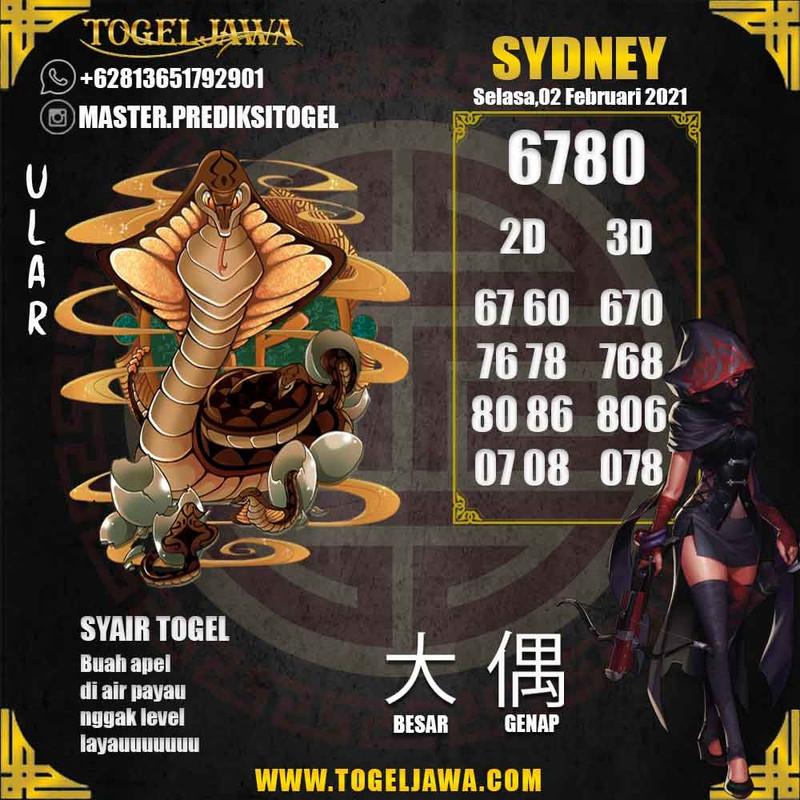 Prediksi Sydney Tanggal 2021-02-02