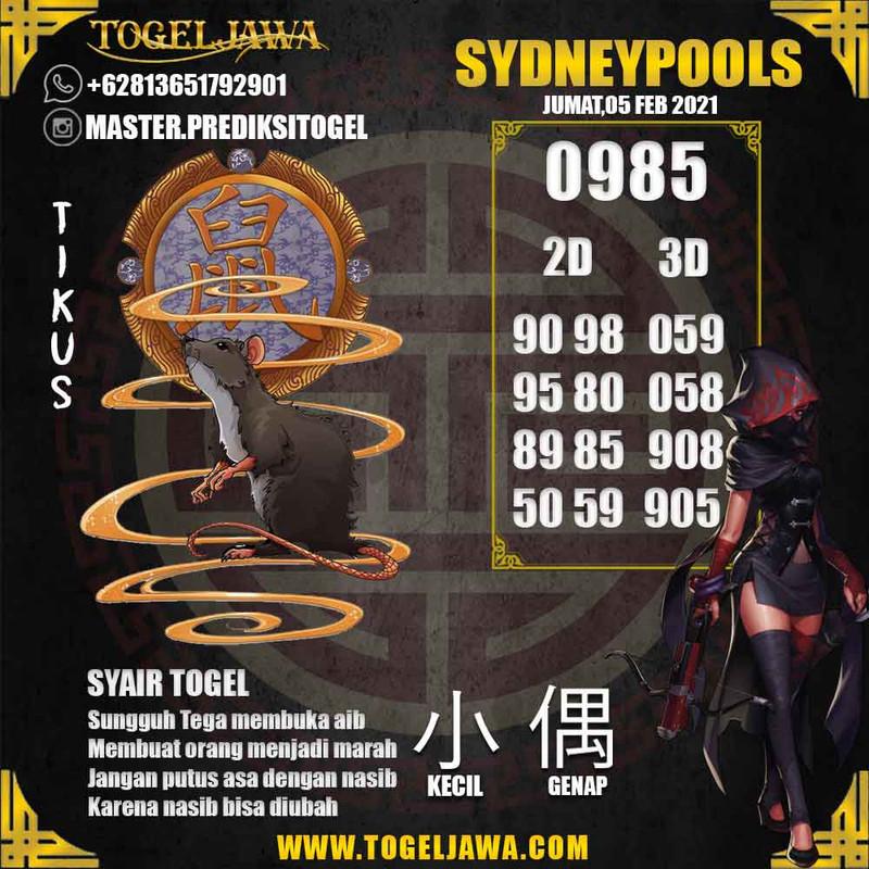 Prediksi Sydney Tanggal 2021-02-05