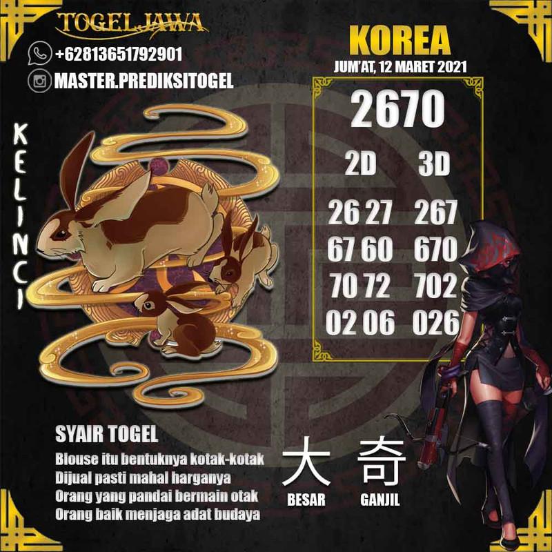 Prediksi Korea Tanggal 2021-03-12
