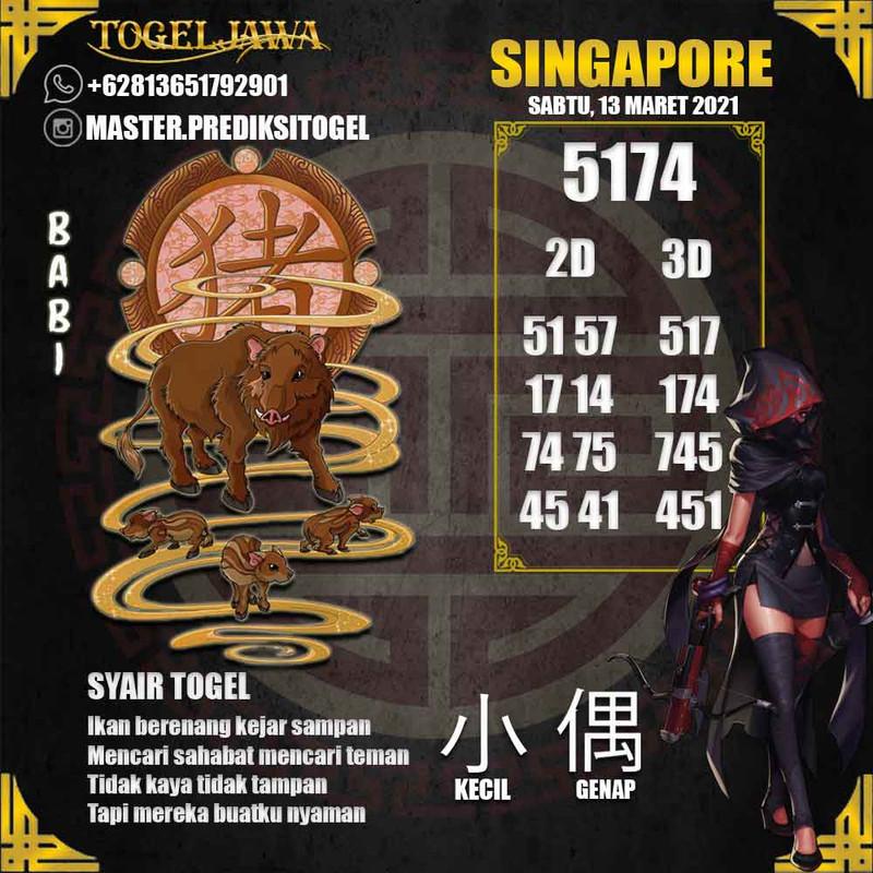 Prediksi Singapore Tanggal 2021-03-13