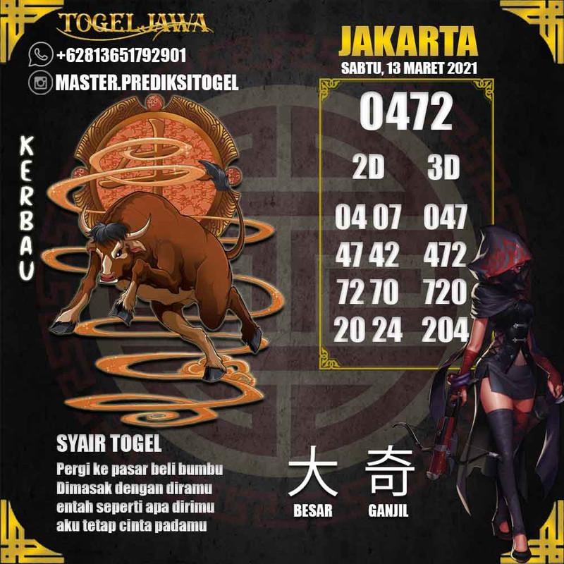 Prediksi Jakarta Tanggal 2021-03-13