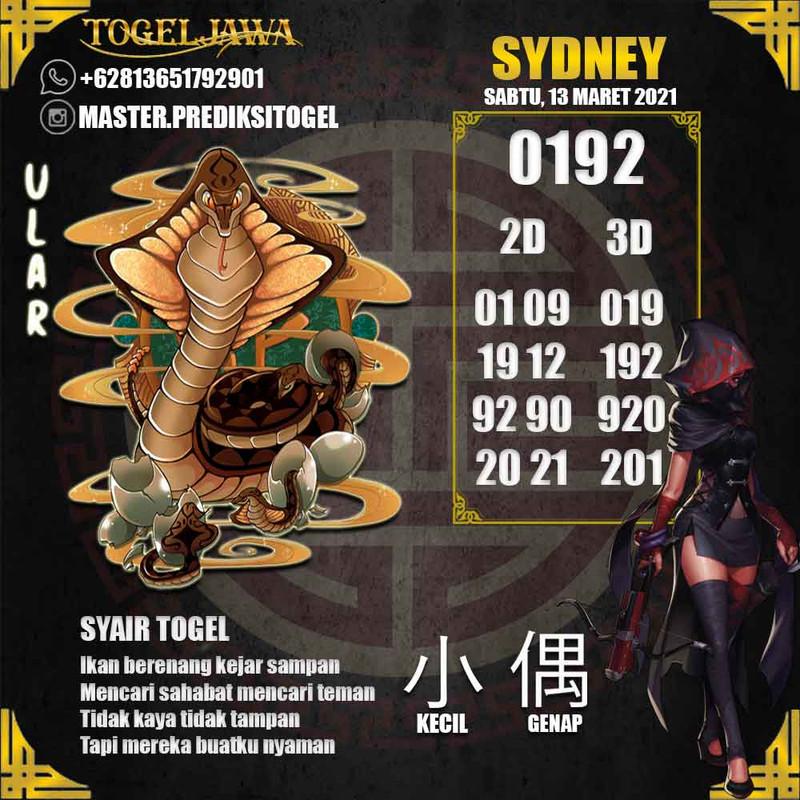 Prediksi Sydney Tanggal 2021-03-13