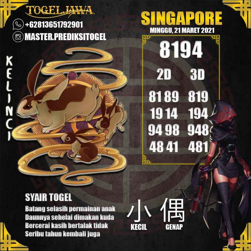 Prediksi Singapore Tanggal 2021-03-21