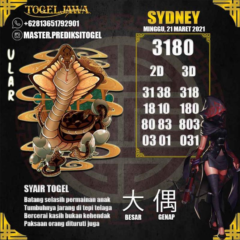 Prediksi Sydney Tanggal 2021-03-21