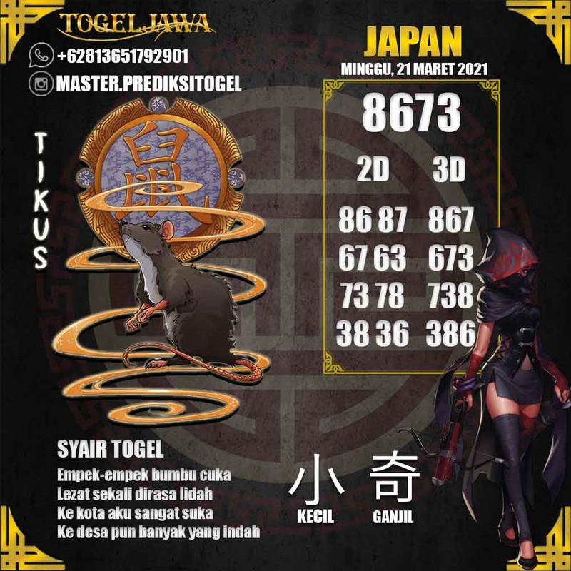 Prediksi Japan Tanggal 2021-03-21