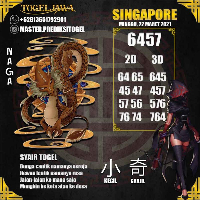 Prediksi Singapore Tanggal 2021-03-22