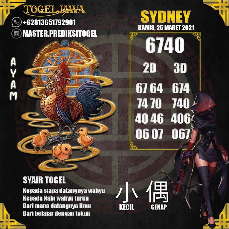 Prediksi Sydney Tanggal 2021-03-25