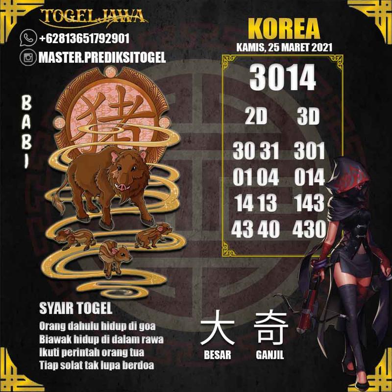 Prediksi Korea Tanggal 2021-03-25