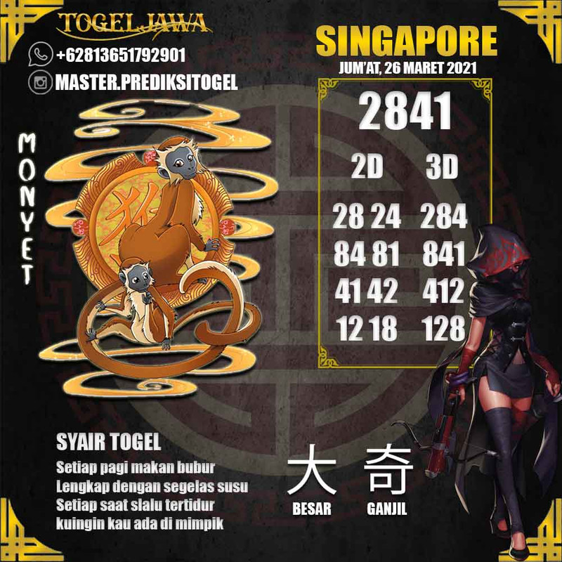 Prediksi Singapore Tanggal 2021-03-26