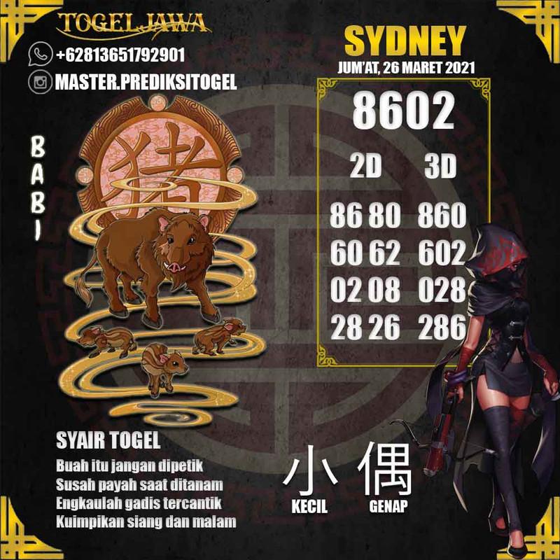 Prediksi Sydney Tanggal 2021-03-26