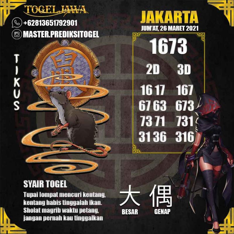 Prediksi Jakarta Tanggal 2021-03-26