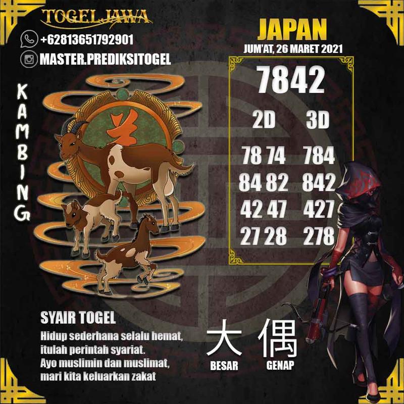 Prediksi Japan Tanggal 2021-03-26