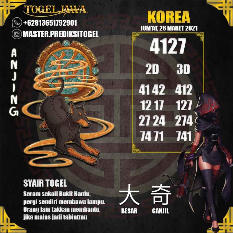 Prediksi Korea Tanggal 2021-03-26
