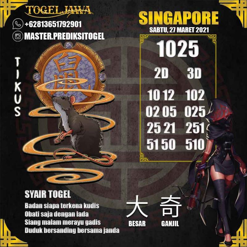 Prediksi Singapore Tanggal 2021-03-27