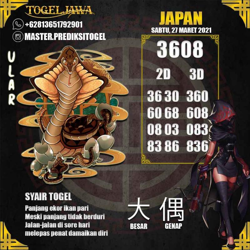 Prediksi Japan Tanggal 2021-03-27