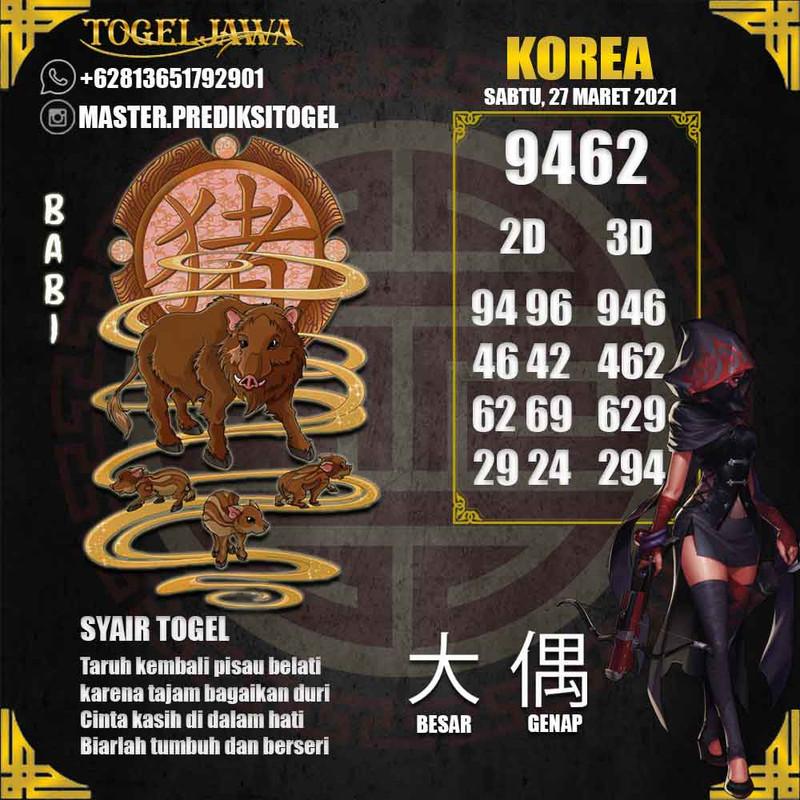 Prediksi Korea Tanggal 2021-03-27