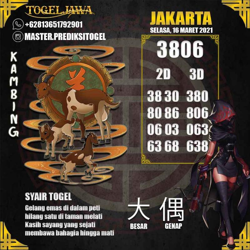 Prediksi Jakarta Tanggal 2021-03-16