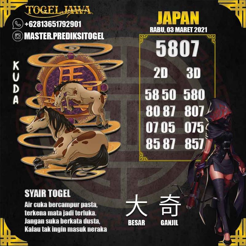 Prediksi Japan Tanggal 2021-03-03