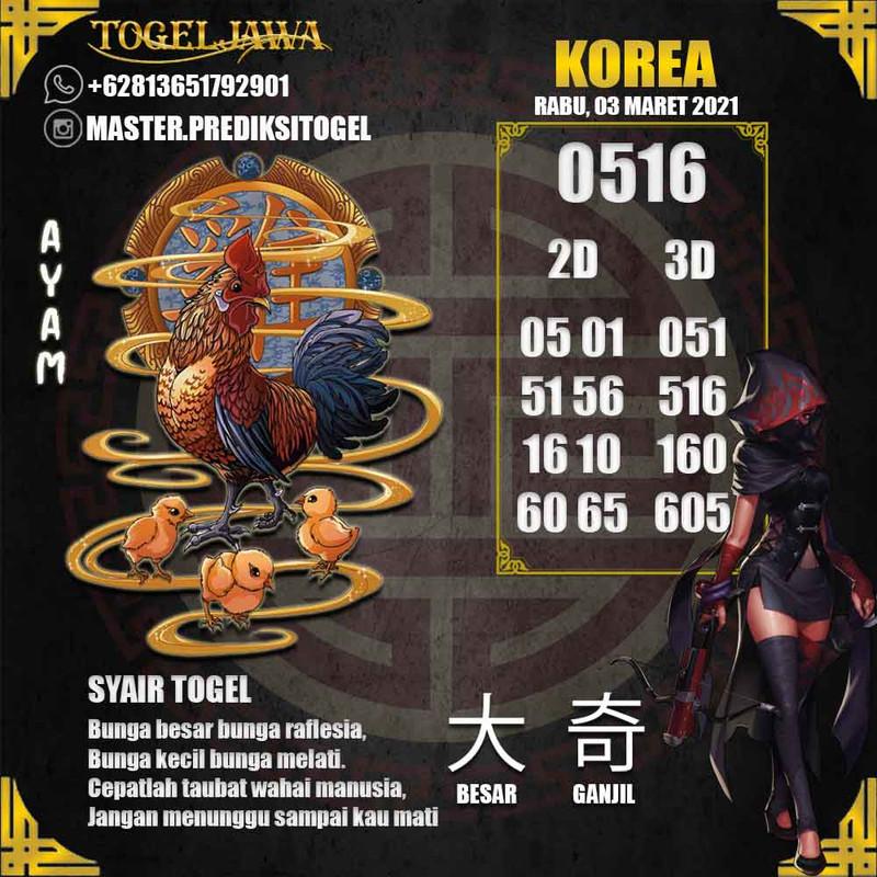 Prediksi Korea Tanggal 2021-03-03