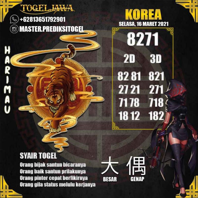 Prediksi Korea Tanggal 2021-03-16