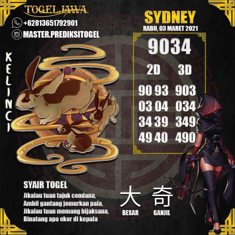 Prediksi Sydney Tanggal 2021-03-03