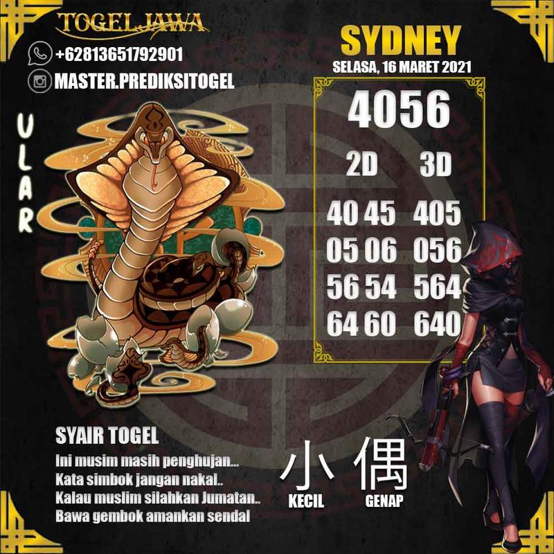 Prediksi Sydney Tanggal 2021-03-16