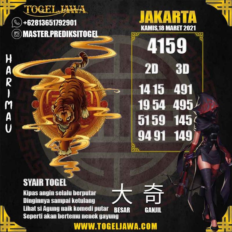 Prediksi Jakarta Tanggal 2021-03-18