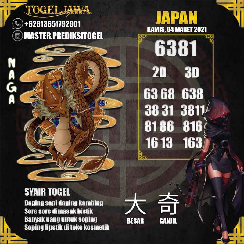Prediksi Japan Tanggal 2021-03-04