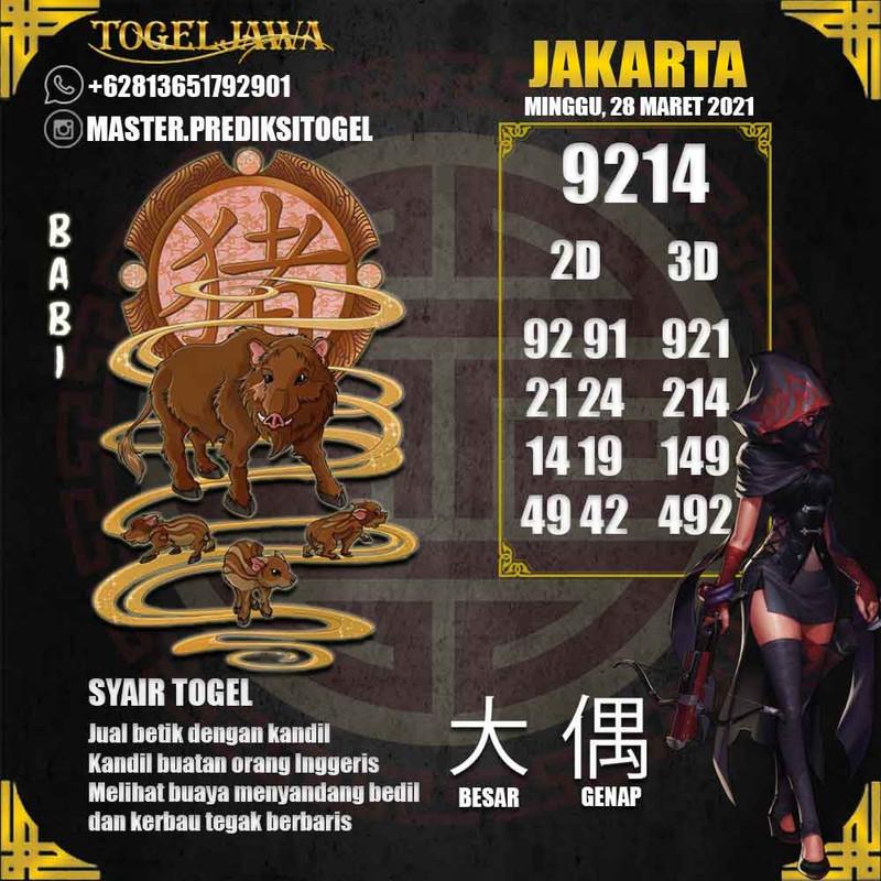 Prediksi Jakarta Tanggal 2021-03-28