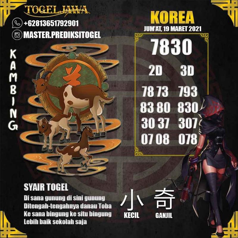 Prediksi Korea Tanggal 2021-03-19