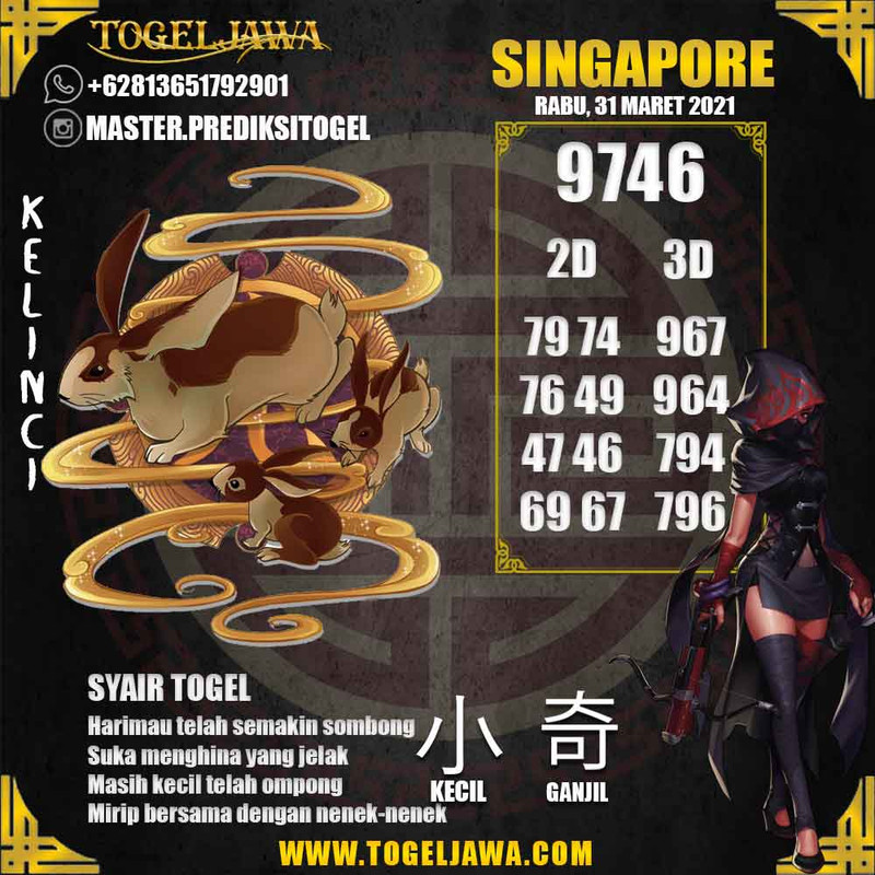 Prediksi Singapore Tanggal 2021-03-31