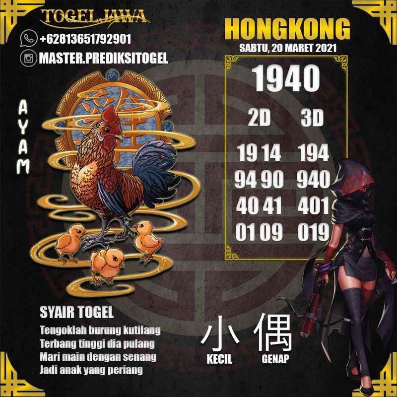 Prediksi Hongkong Tanggal 2021-03-20