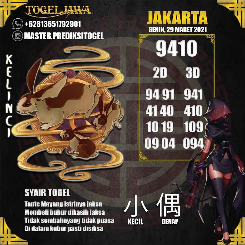 Prediksi Jakarta Tanggal 2021-03-29