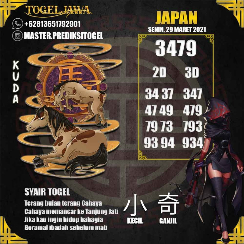 Prediksi Japan Tanggal 2021-03-29