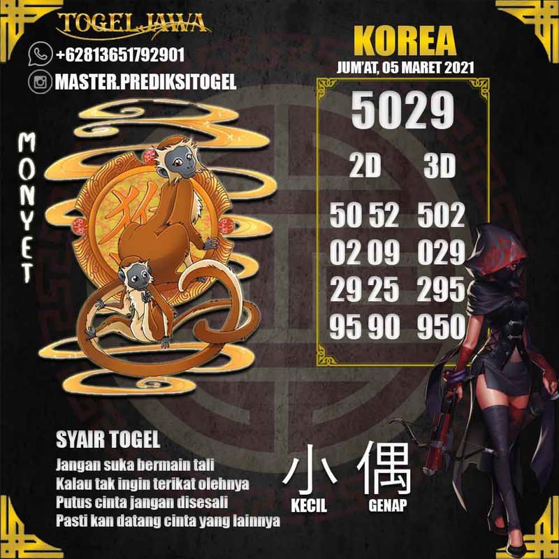 Prediksi Korea Tanggal 2021-03-05