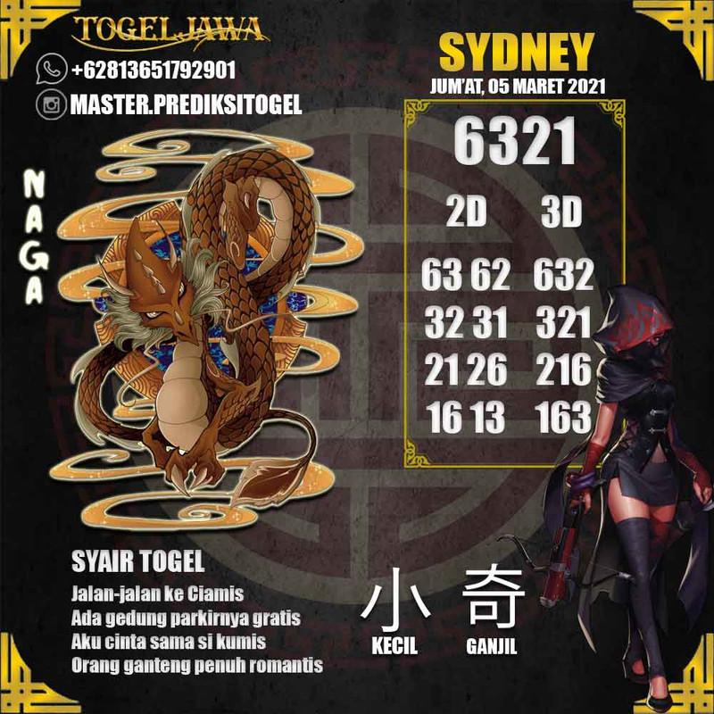 Prediksi Sydney Tanggal 2021-03-05