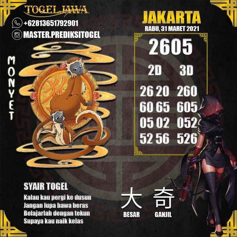 Prediksi Jakarta Tanggal 2021-03-31