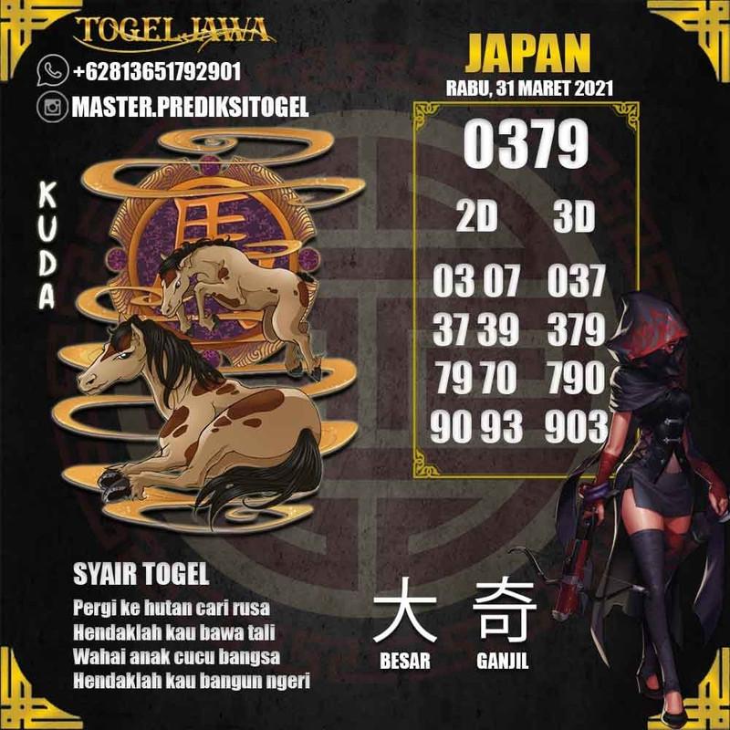 Prediksi Japan Tanggal 2021-03-31