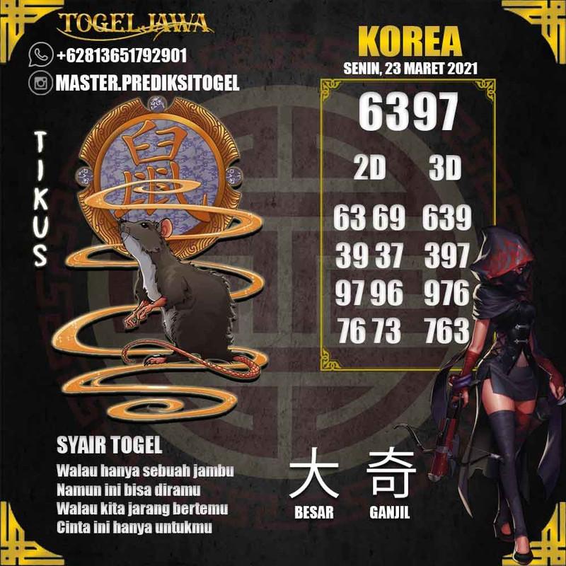 Prediksi Korea Tanggal 2021-03-23