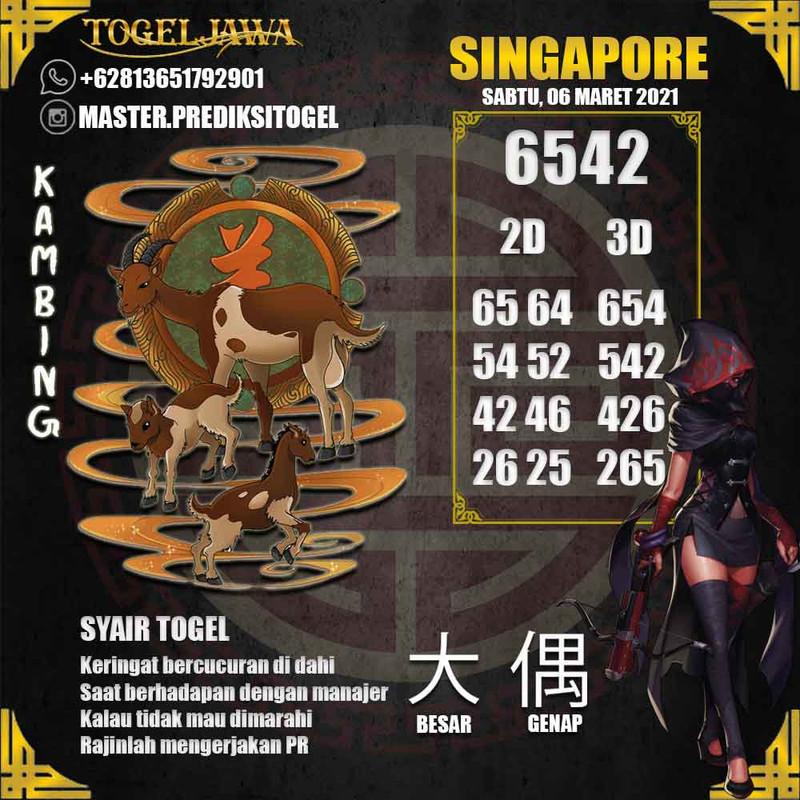 Prediksi Singapore Tanggal 2021-03-06