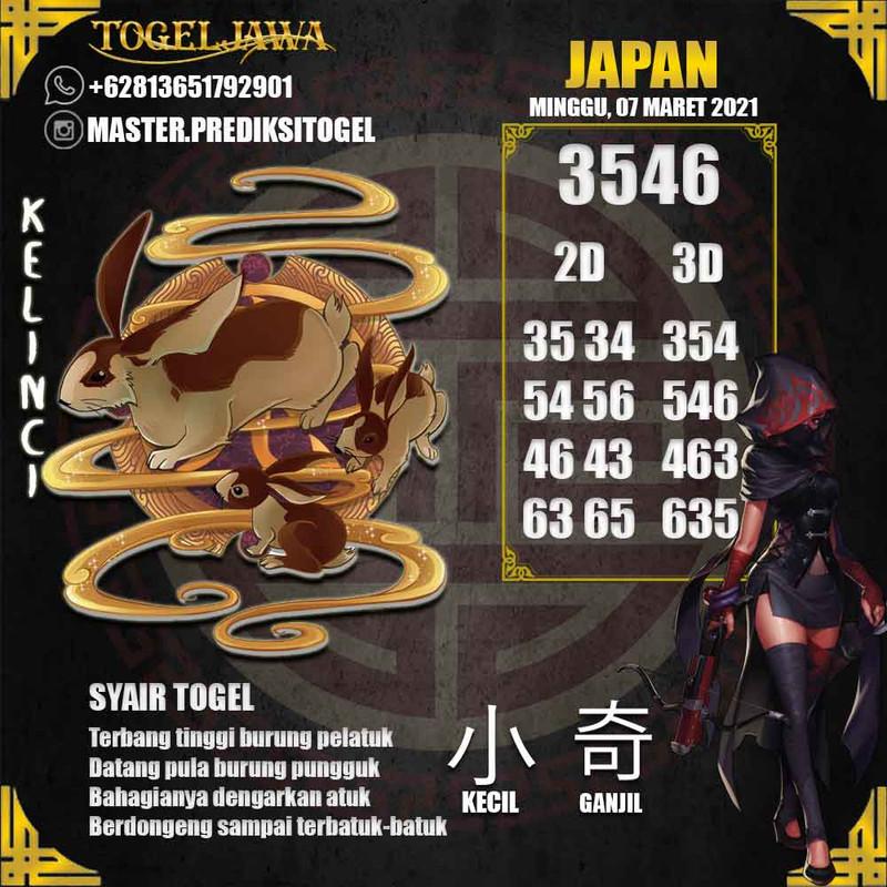 Prediksi Japan Tanggal 2021-03-07