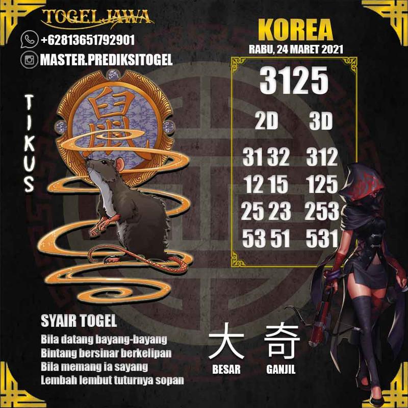 Prediksi Korea Tanggal 2021-03-24