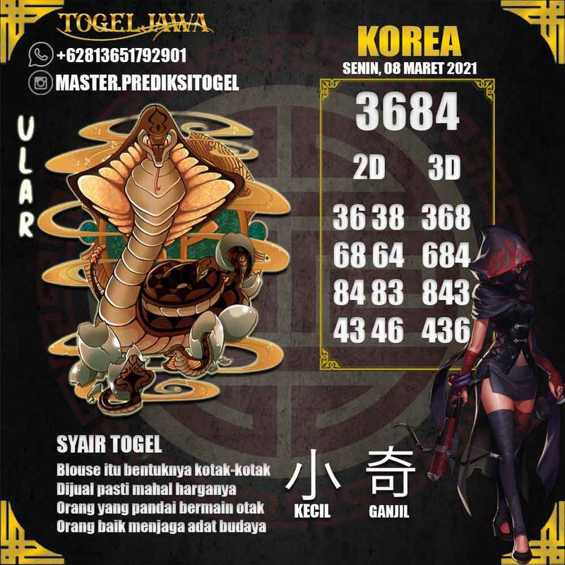 Prediksi Korea Tanggal 2021-03-08