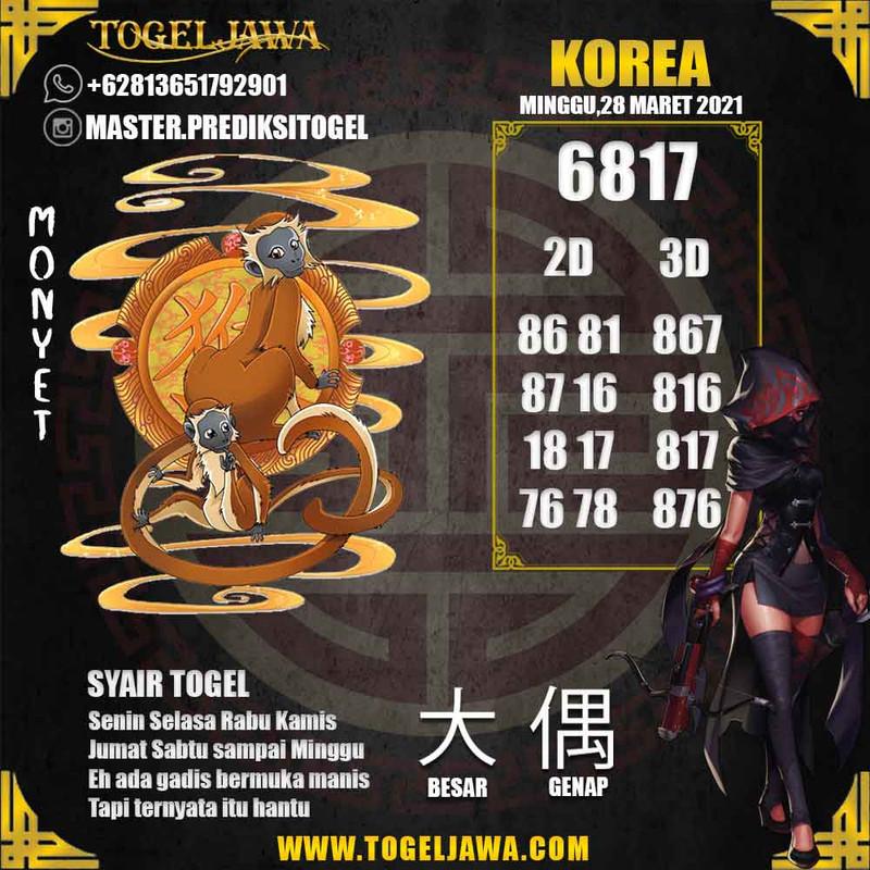Prediksi Korea Tanggal 2021-03-28