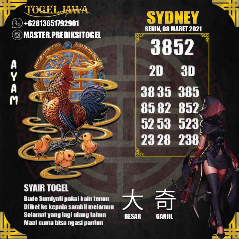 Prediksi Sydney Tanggal 2021-03-08