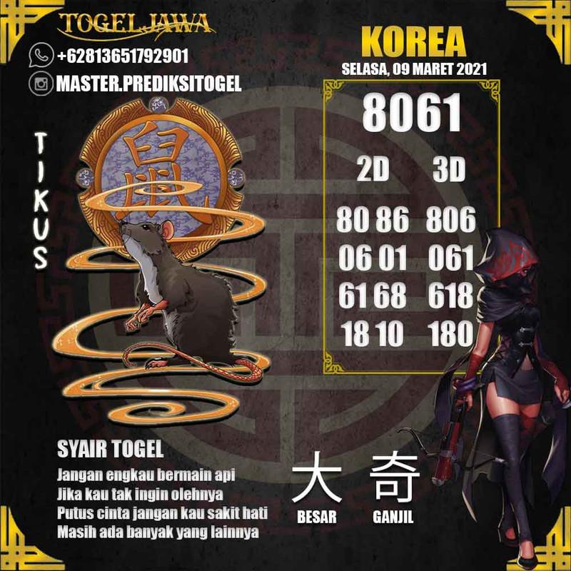 Prediksi Korea Tanggal 2021-03-09