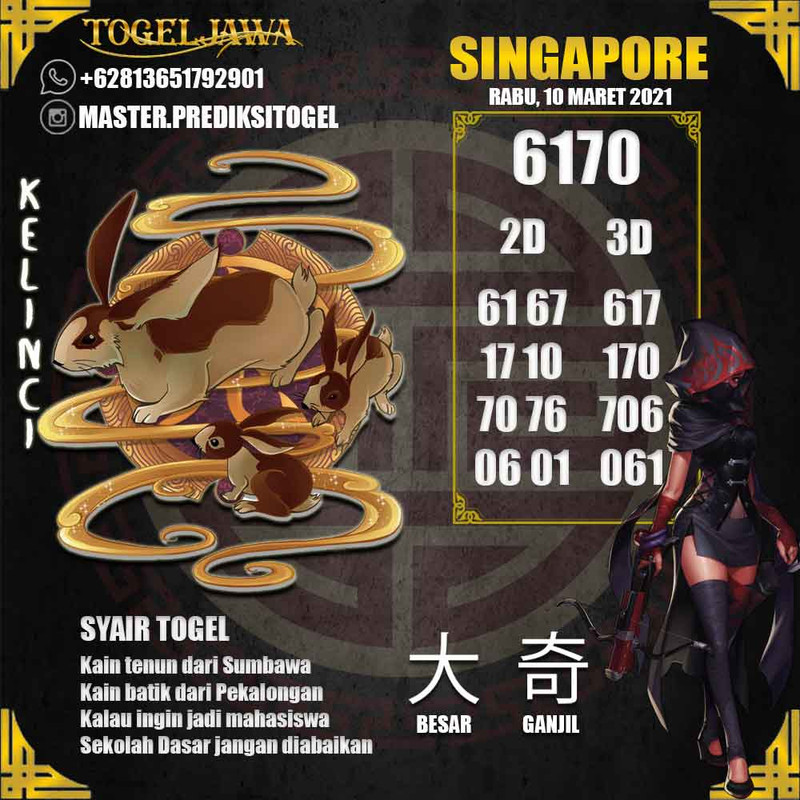 Prediksi Singapore Tanggal 2021-03-10